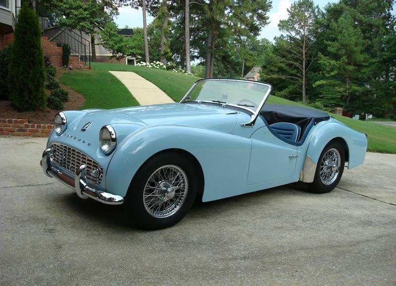 powder blue Triumph cars, Triumph tr3, Classic sports cars